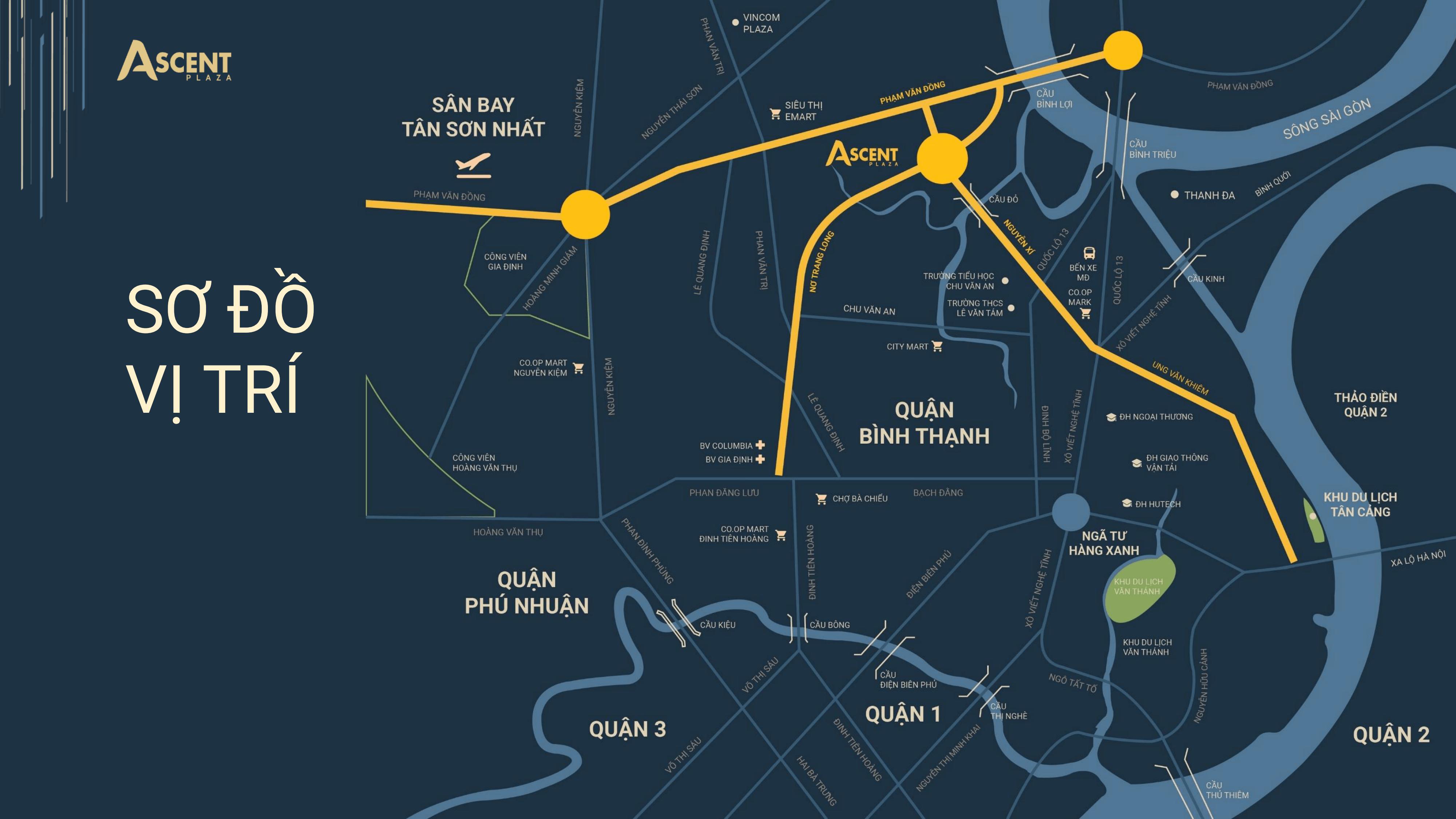 vị trí dự án ascent plaza bình thạnh