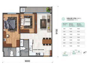 thiết kế căn hộ safira khang điền 3