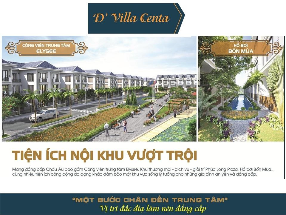 tiện ích nội khu dự án d villa centa