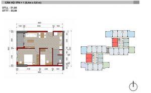 thiết kế căn hộ 1 pn charm city