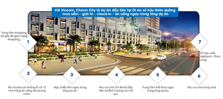 tiện ích căn hộ charm city