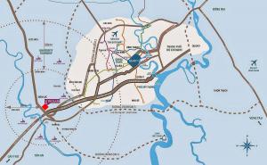 vị trí dự án asaka riverside