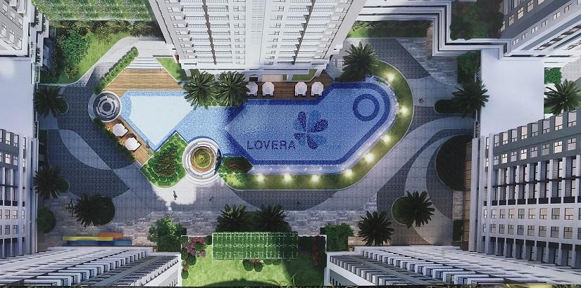 hồ bơi căn hộ lovera vista
