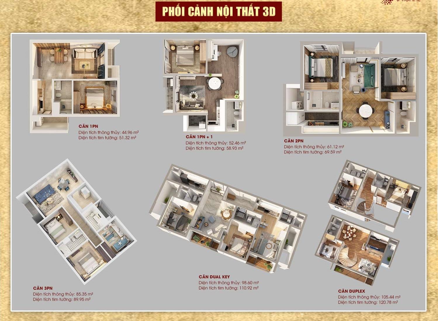 thiết kế căn hộ dhomme