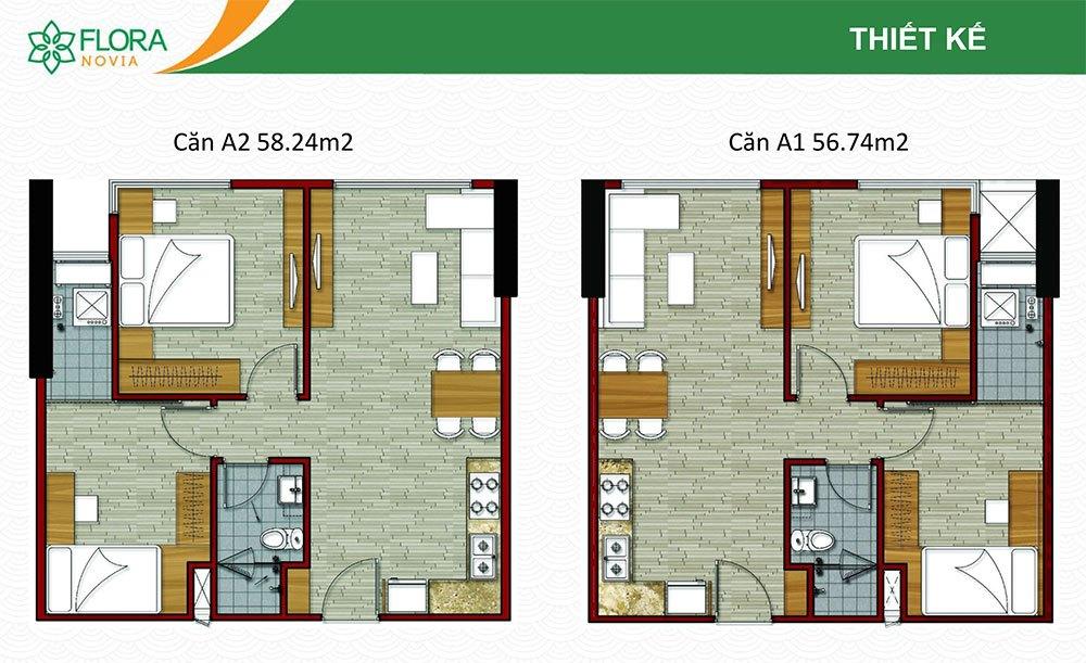 thiết kế căn hộ flora novia phạm văn đồng