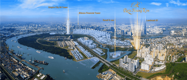 Vị trí tiềm năng dự án căn hộ Paris Hoàng Kim