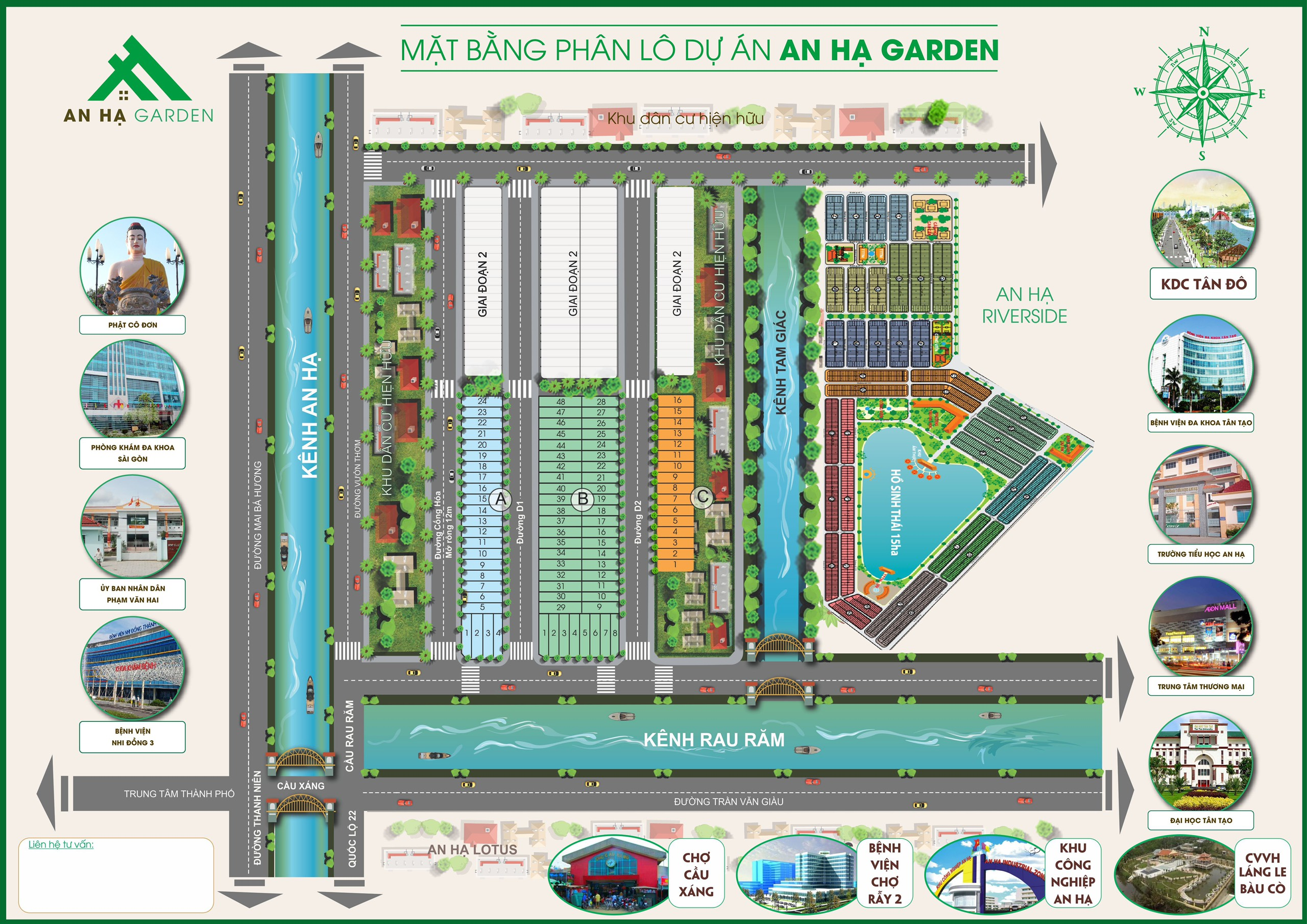 mặt bằng dự án an hạ garden