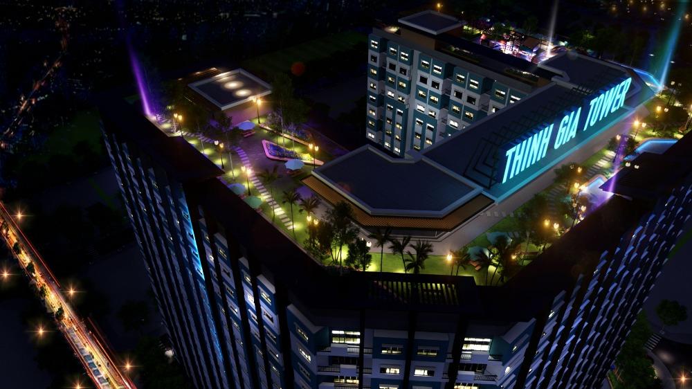 Khu Caffe, Sky bar sân thượng tạicăn hộ Thịnh Gia Tower