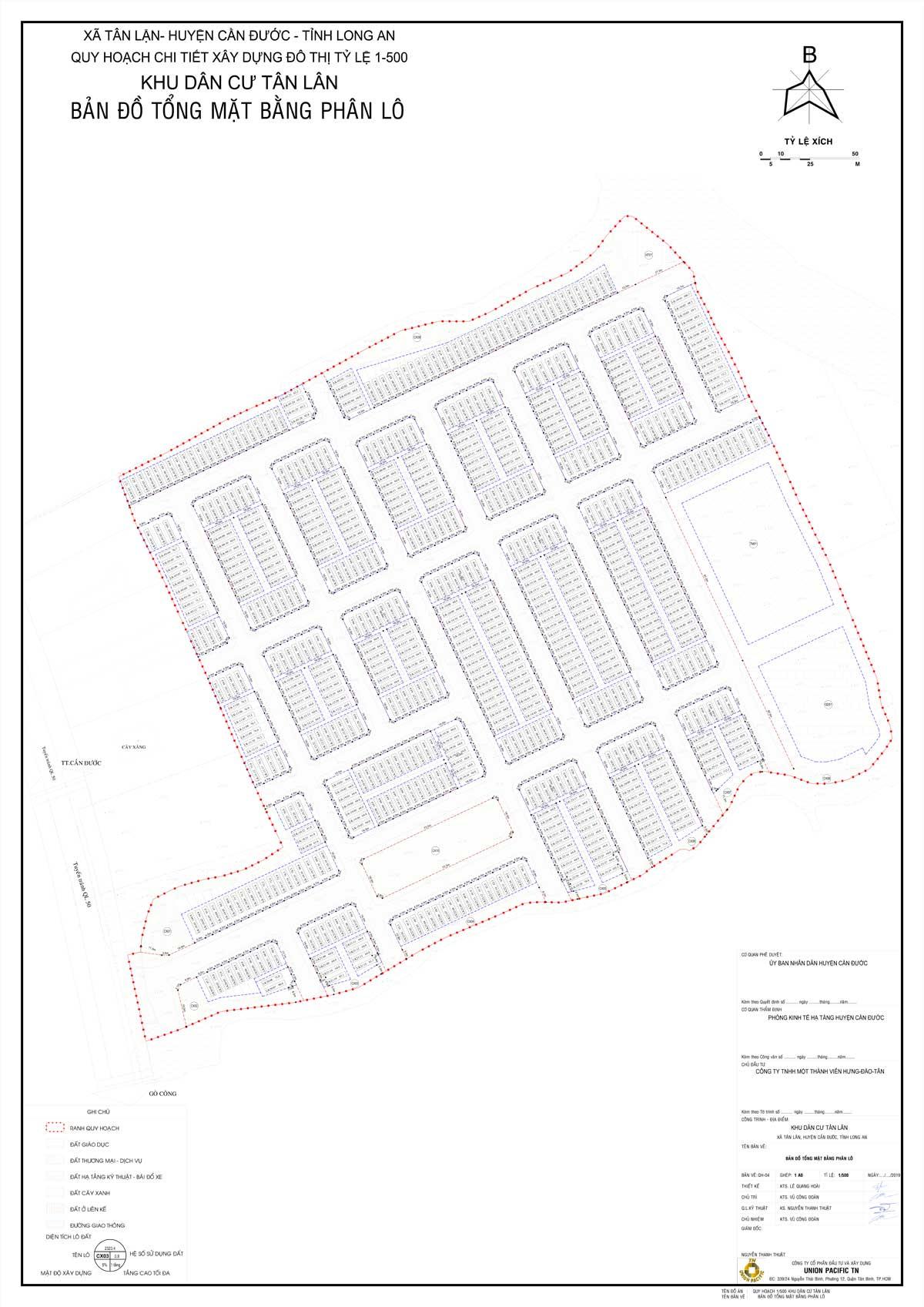Bản đồ phân lô dự án Lotus New City Long An