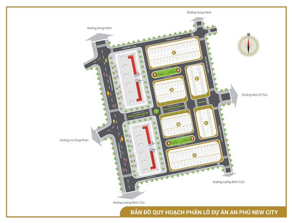 Mặt bằng dự án An Phú New City Quận 2