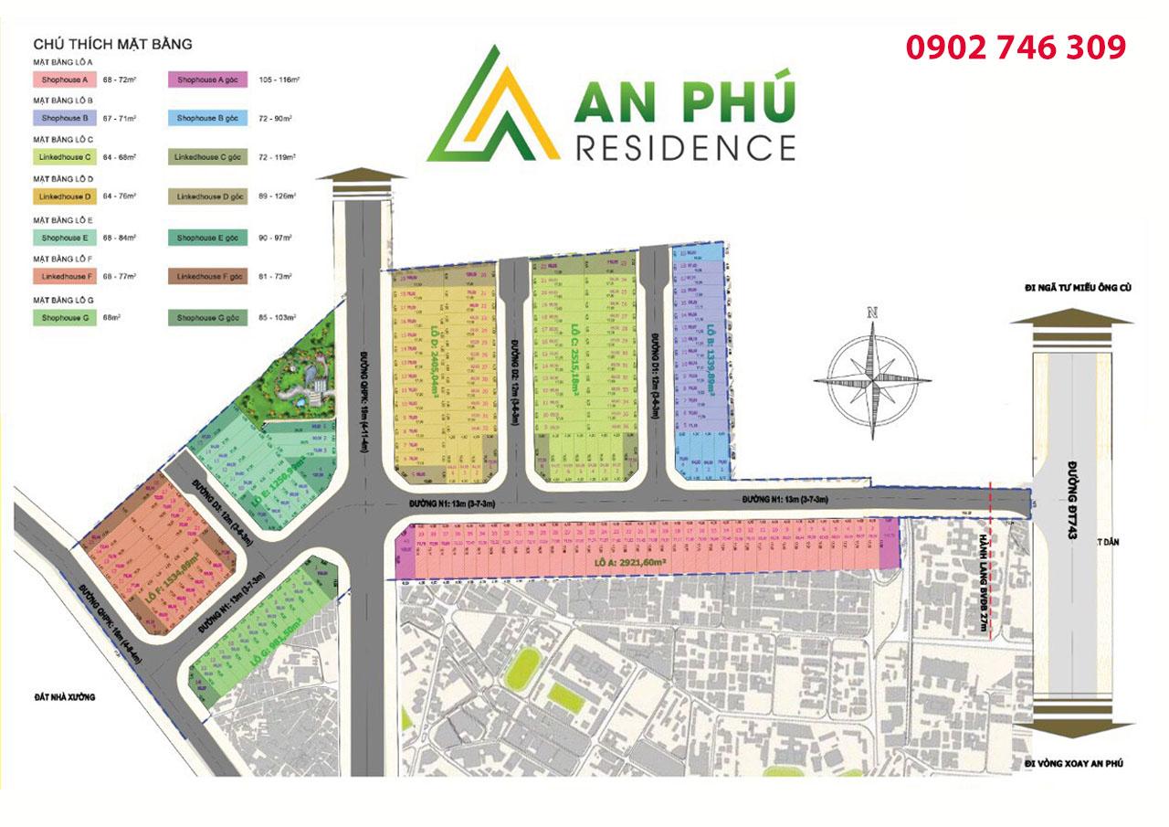 Sơ đồ phân lô An Phú Residence Thuận Giao