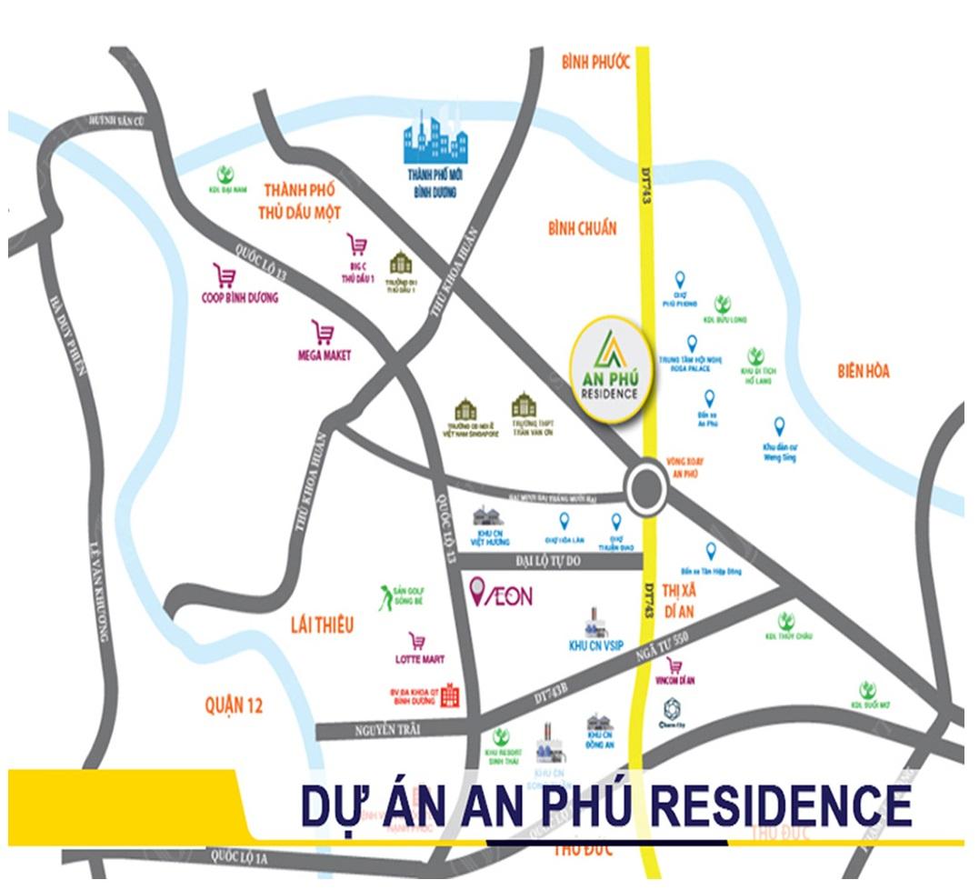Vị trí dự án An Phú Residence - Thuận An