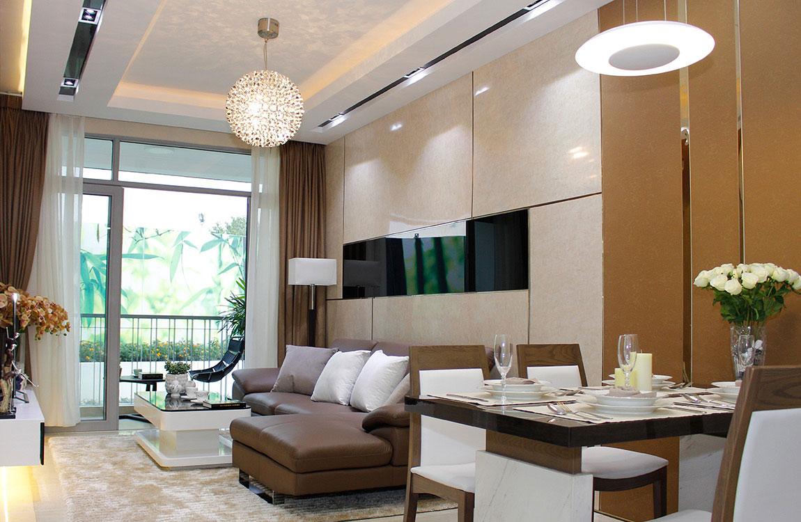 Thiết kế phòng khách căn hộ ST Moritz