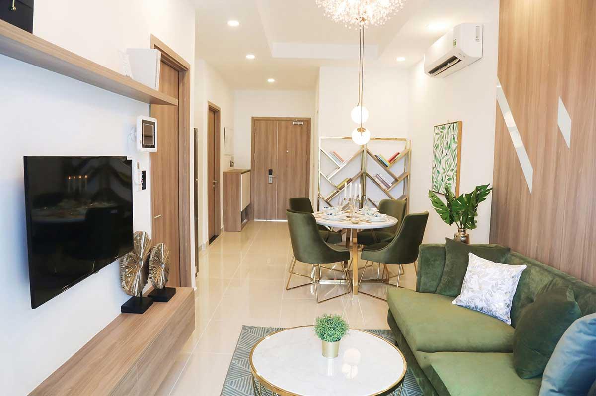 Thiết kế phòng khách căn hộ Ricca