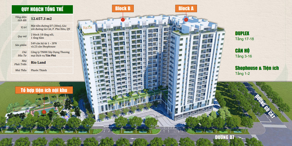 Quy hoạch tổng thể căn hộ Ricca