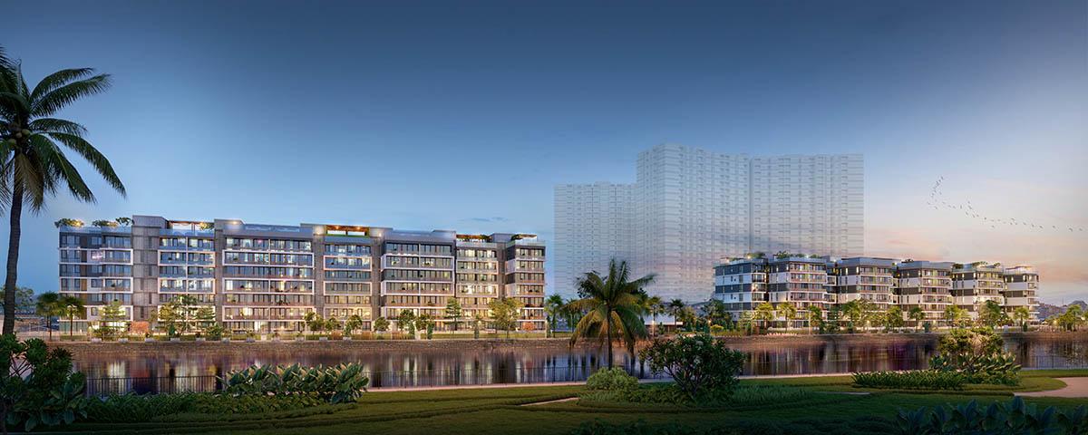 Toàn cảnh 2 Block dự án Panomax River Villa