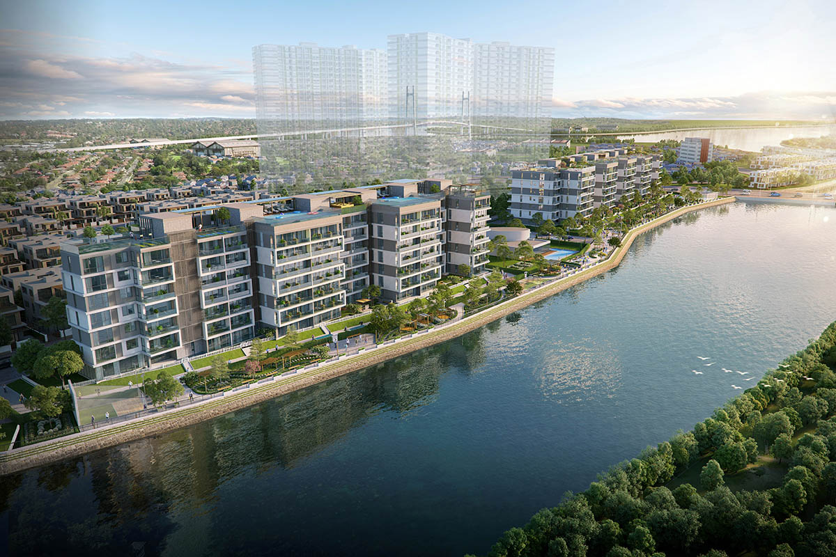 Phối cảnh dự án Panomax River Villa