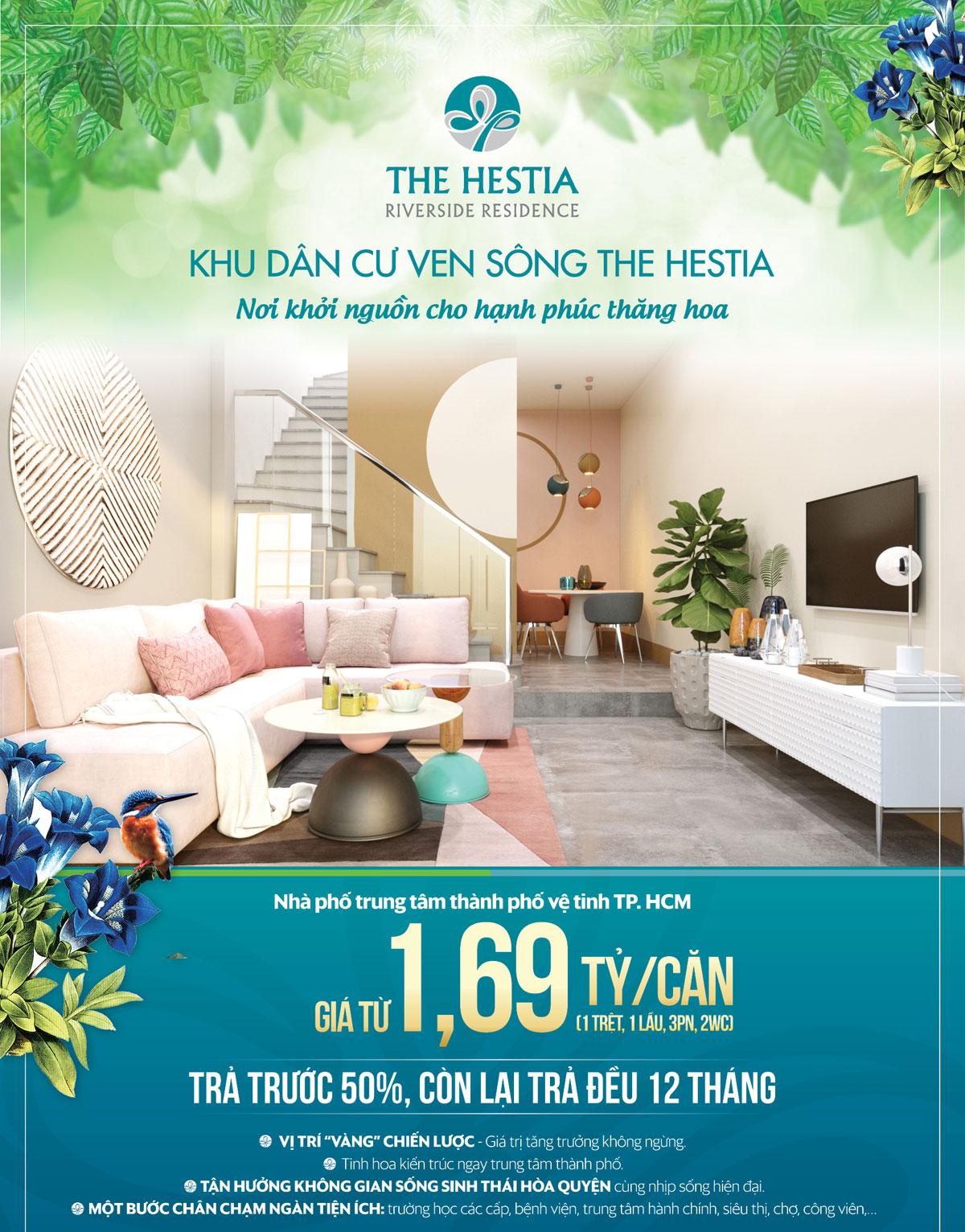 Thiết kế nhà phố The hestia riverside residence