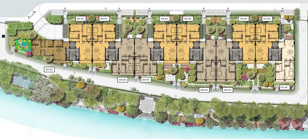 Mặt bằng Block J Tầng 1-6 căn hộ Panomax River Villa