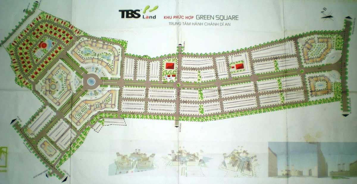 Mặt bằng dự án Green Quare Dĩ An city