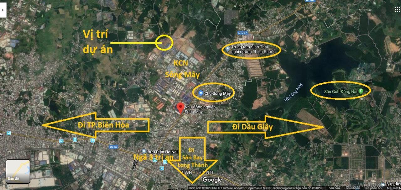 vị trí dự án pnr estella trảng bom đồng nai