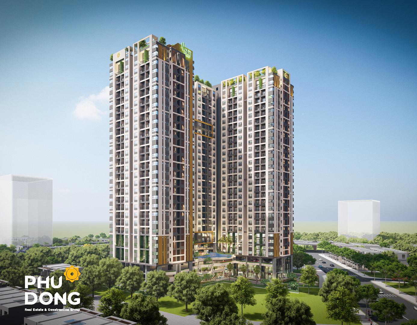 Phối cảnh dự án Sky Garden - Phú Đông Group