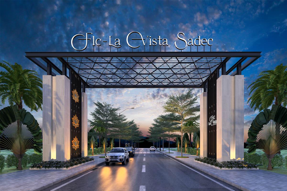 Cổng chào vào khu đô thị FLC La Vista Sadec