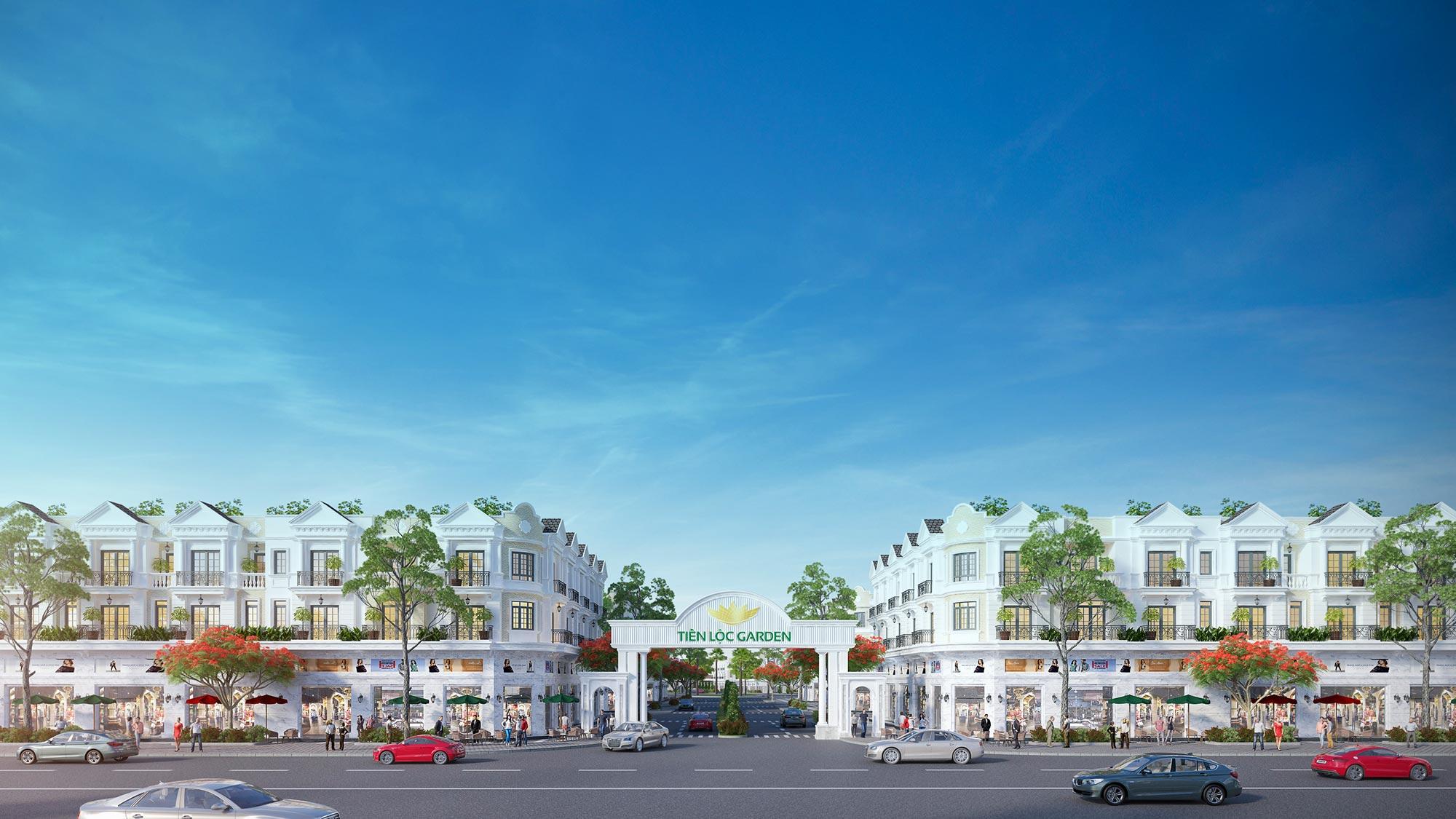 Phối cảnh dự án Tiến Lộc Garden (Cổng chính)